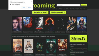What Film-streaming.bz website looked like in 2020 (This year)
