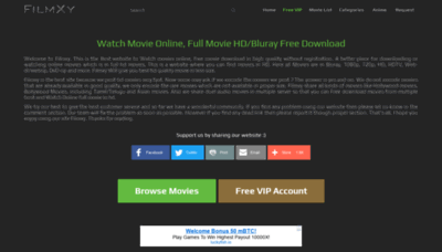 What Filmxy.cc website looked like in 2020 (This year)