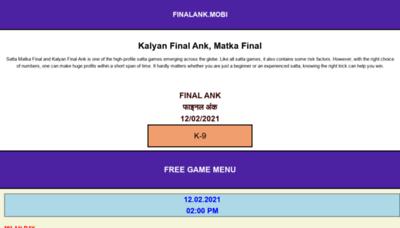 What Finalank.mobi website looks like in 2021