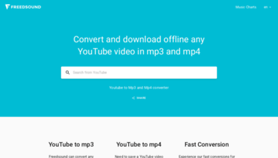 What Freedsound.io website looks like in 2021