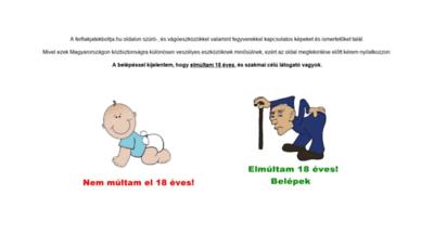 What Ferfiakjatekboltja.hu website looks like in 2021