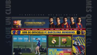 What Fcbarcelona.dk website looks like in 2021