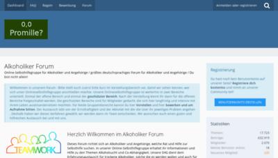 What Forum-alkoholiker.de website looks like in 2021