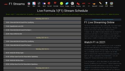 What F1stream.me website looks like in 2021