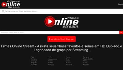 What Filmesonline.stream website looks like in 2021