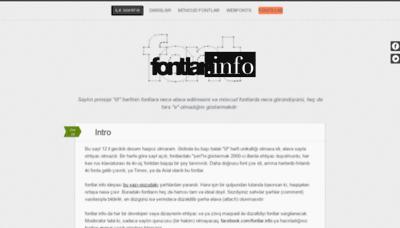 What Fontlar.info website looks like in 2021