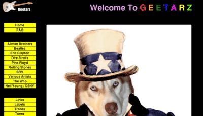 What Geetarz.org website looked like in 2017 (4 years ago)