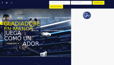 What Grupo757.net website looked like in 2017 (4 years ago)