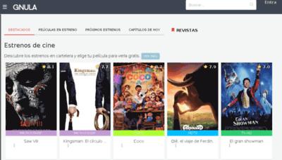What Gnula.biz website looked like in 2018 (3 years ago)