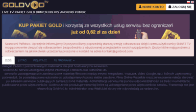 What Goldvod.tv website looked like in 2018 (3 years ago)