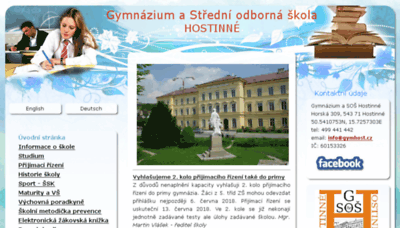 What Gymhost.cz website looked like in 2018 (2 years ago)