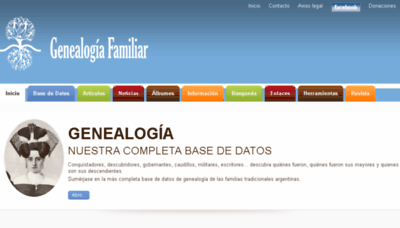 What Genealogiafamiliar.net website looked like in 2018 (3 years ago)