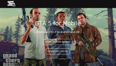 What Gta5.mobi website looked like in 2018 (3 years ago)