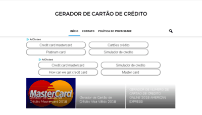 What Geradordecartaodecredito.info website looked like in 2018 (2 years ago)