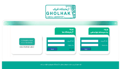 What Gholhak-lab.net website looked like in 2018 (3 years ago)