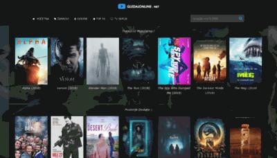 What Gledajonline.net website looked like in 2018 (2 years ago)