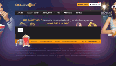 What Goldvod.tv website looked like in 2019 (2 years ago)