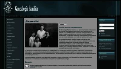 What Genealogiafamiliar.net website looked like in 2019 (2 years ago)