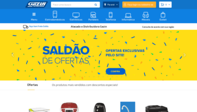 What Gazinatacado.com.br website looked like in 2019 (1 year ago)