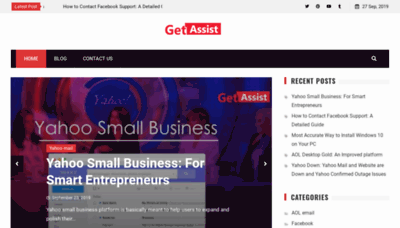 What Getassist.net website looked like in 2019 (1 year ago)