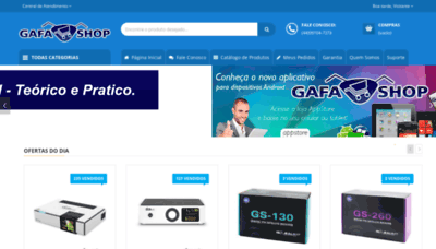 What Gafashop.com.br website looked like in 2019 (1 year ago)