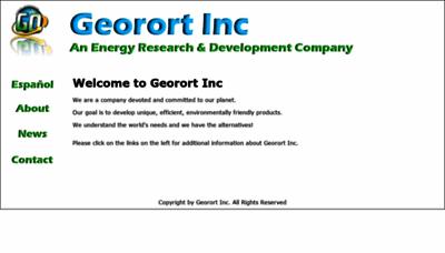 What Georortinc.net website looked like in 2019 (1 year ago)