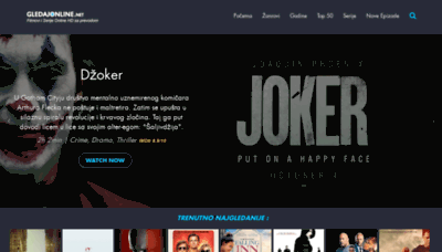 What Gledajonline.net website looked like in 2019 (1 year ago)