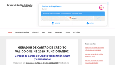What Geradordecartaodecredito.info website looked like in 2019 (1 year ago)