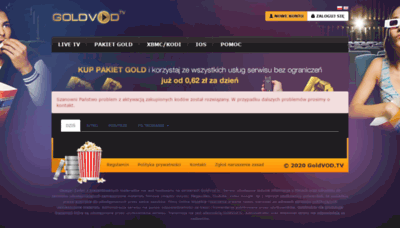 What Goldvod.tv website looked like in 2020 (1 year ago)