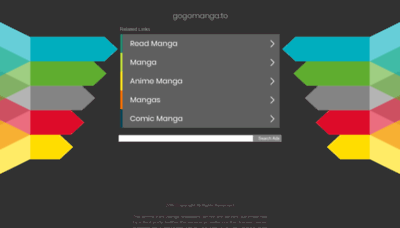 What Gogomanga.to website looked like in 2020 (1 year ago)