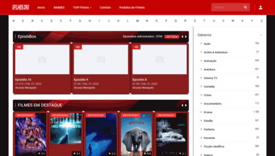 What Gfilmes.org website looked like in 2020 (1 year ago)