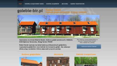 What Golebie-bir.pl website looked like in 2020 (1 year ago)