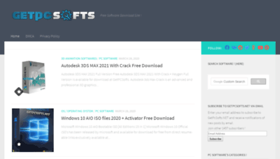 What Getpcsofts.net website looked like in 2020 (1 year ago)