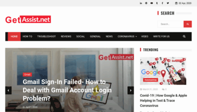 What Getassist.net website looked like in 2020 (1 year ago)