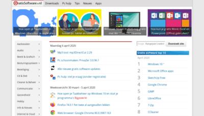 What Gratissoftwaresite.nl website looked like in 2020 (1 year ago)