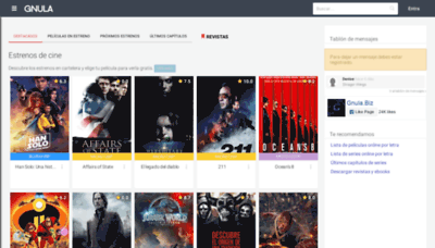 What Gnula.biz website looked like in 2020 (1 year ago)