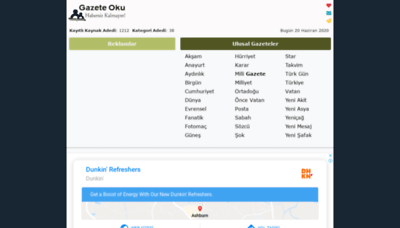 What Gazeteoku.tv website looked like in 2020 (1 year ago)