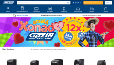 What Gazinatacado.com.br website looked like in 2020 (1 year ago)