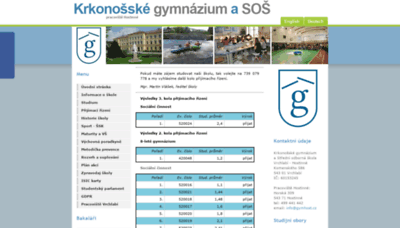 What Gymhost.cz website looked like in 2020 (This year)