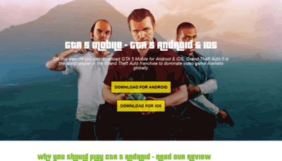 What Gta5.mobi website looked like in 2020 (1 year ago)