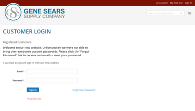 What Genesears.net website looked like in 2020 (This year)