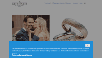 What Gerstner-trauringe.de website looked like in 2020 (This year)