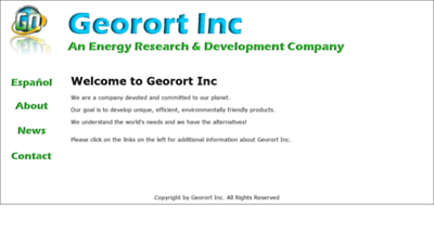 What Georortinc.net website looked like in 2020 (This year)