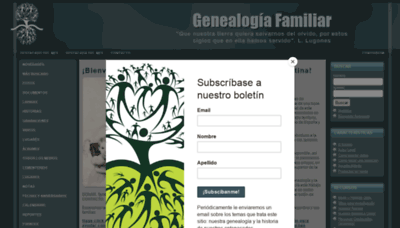 What Genealogiafamiliar.net website looked like in 2020 (This year)