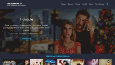 What Gledajonline.net website looked like in 2020 (This year)