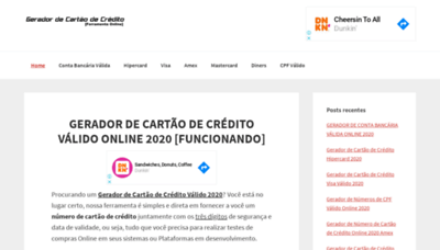 What Geradordecartaodecredito.info website looked like in 2020 (This year)