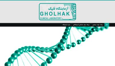 What Gholhak-lab.net website looks like in 2021
