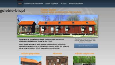 What Golebie-bir.pl website looks like in 2021