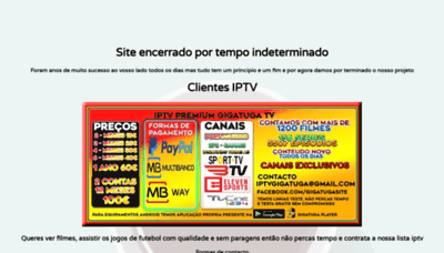 What Gigatuga.io website looks like in 2021
