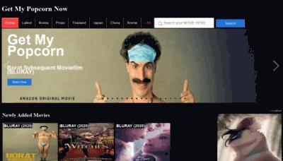 What Getmypopcornnow.pw website looks like in 2021